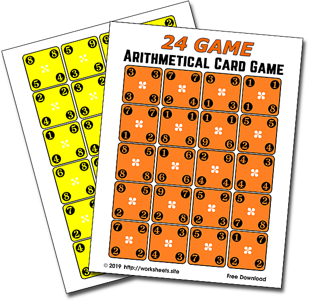 24 Game Printable Cards