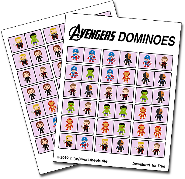 Avengers Endgame Dominoes