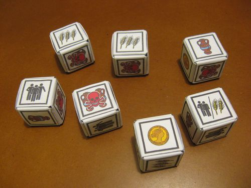 Image: origami dice roll through the ages