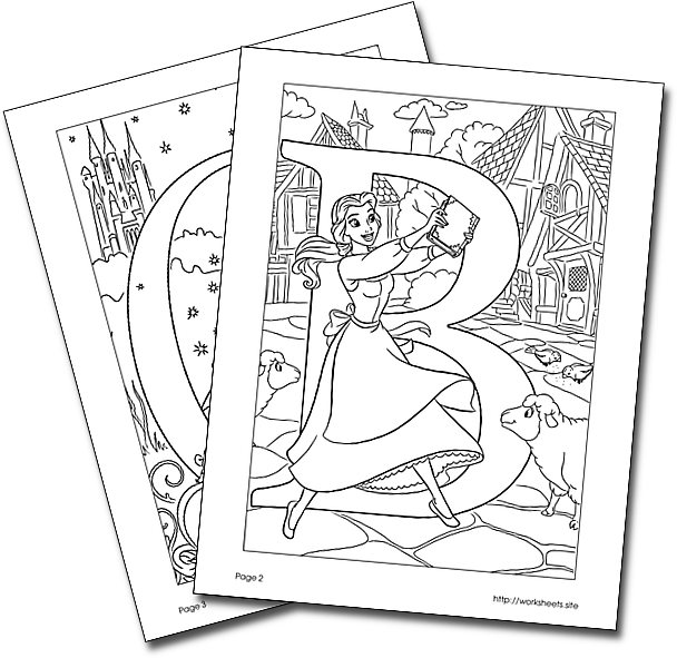French Alphabet Coloring Pages - Mr Printables | 591x608