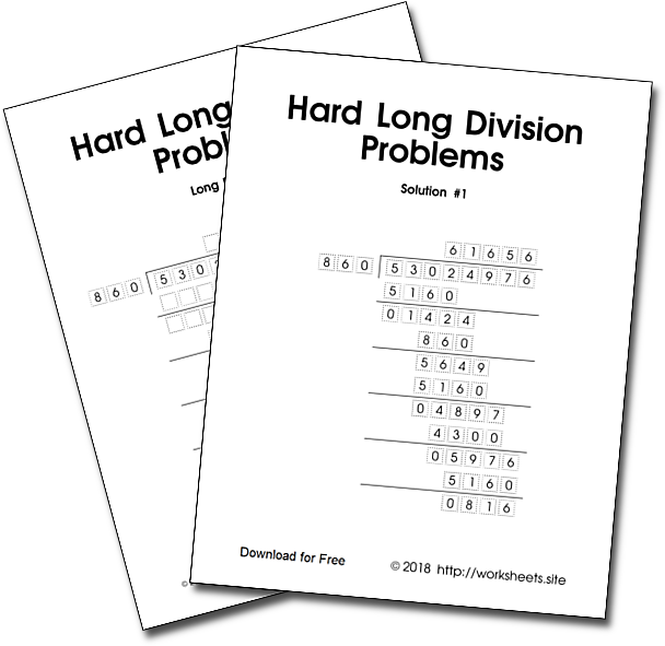 Hard Long Division Problems Solved
