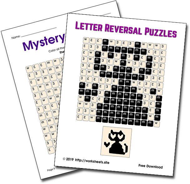 Mystery Pictures for Letter and Number Reversals
