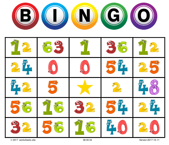 Printable Multiplication Bingo