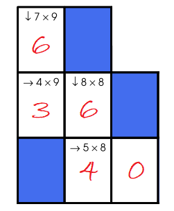 Multiplication Crossword Puzzle Example