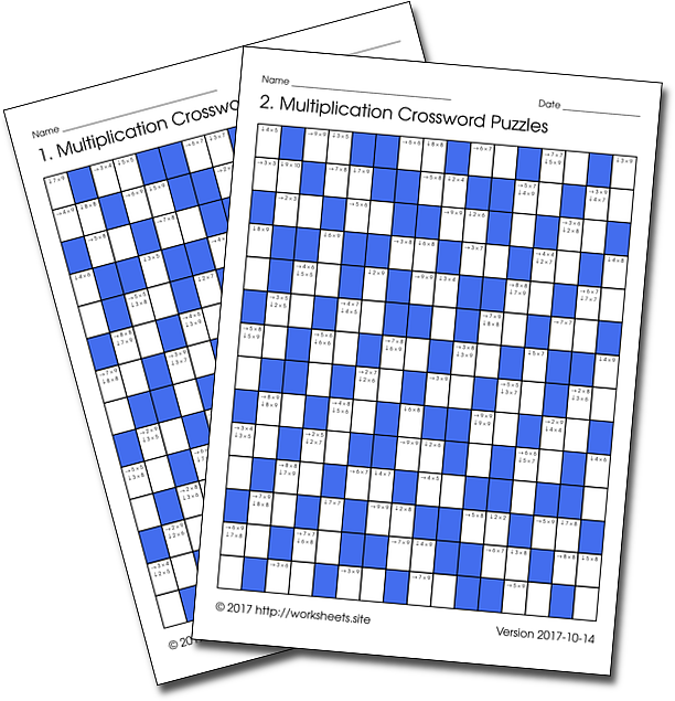 Multiplication Crosswords