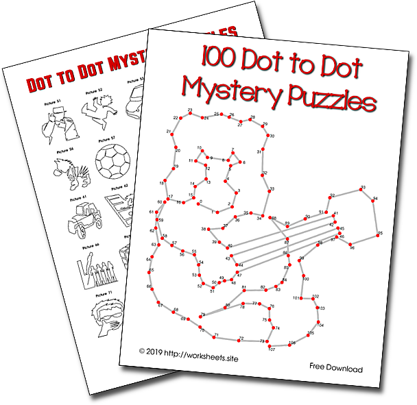 100 Dot to Dot Mystery Puzzles