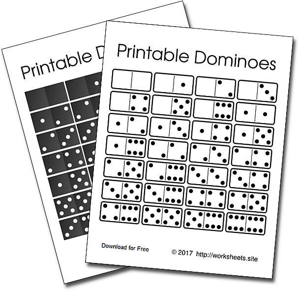 Free Printable Dominoes PDF Black and White