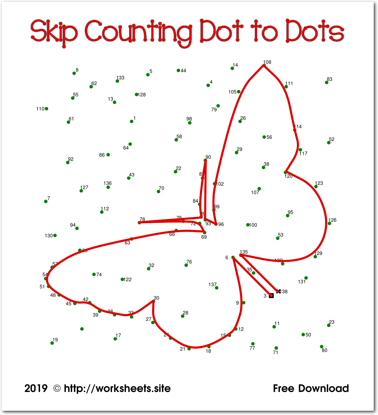 - Skip Counting Dot To Dots