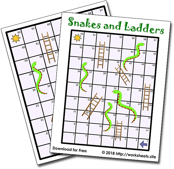 Free Printable Snakes and Ladders Boardgame