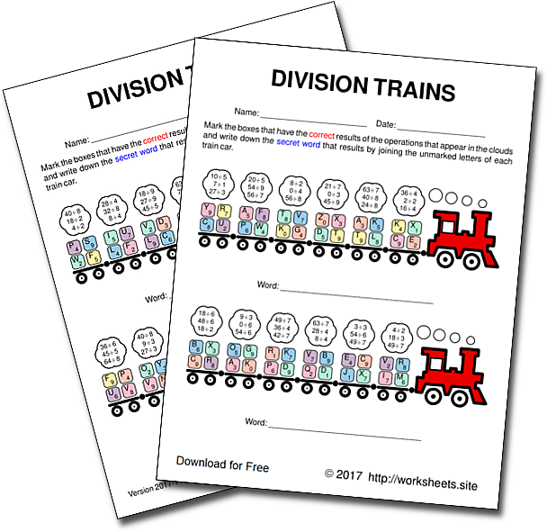Free Division Worksheets